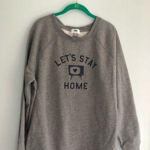 Old Navy TV Fleece Sweatshirt XL